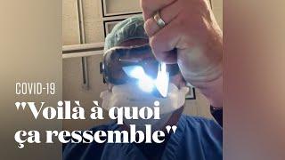 Ce médecin montre ce que voient les malades du Covid-19 avant de décéder à l'hôpital