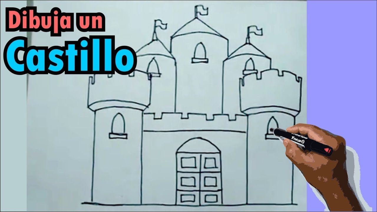 Aprende a dibujar paso a paso un castillo medieval 1/2 ...