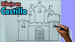 Aprende a dibujar paso a paso un castillo medieval 1/2 - castell drawing