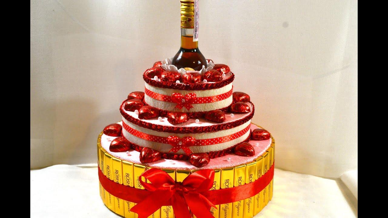 Торт и конфет с цветами своими руками фото 498