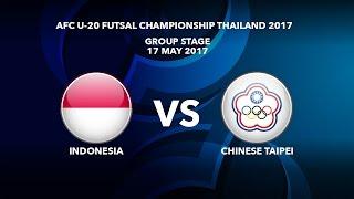 M17 INDONESIA Vs CHINESE TAIPEI - AFC U-20 Futsal Championship Thailand 2017