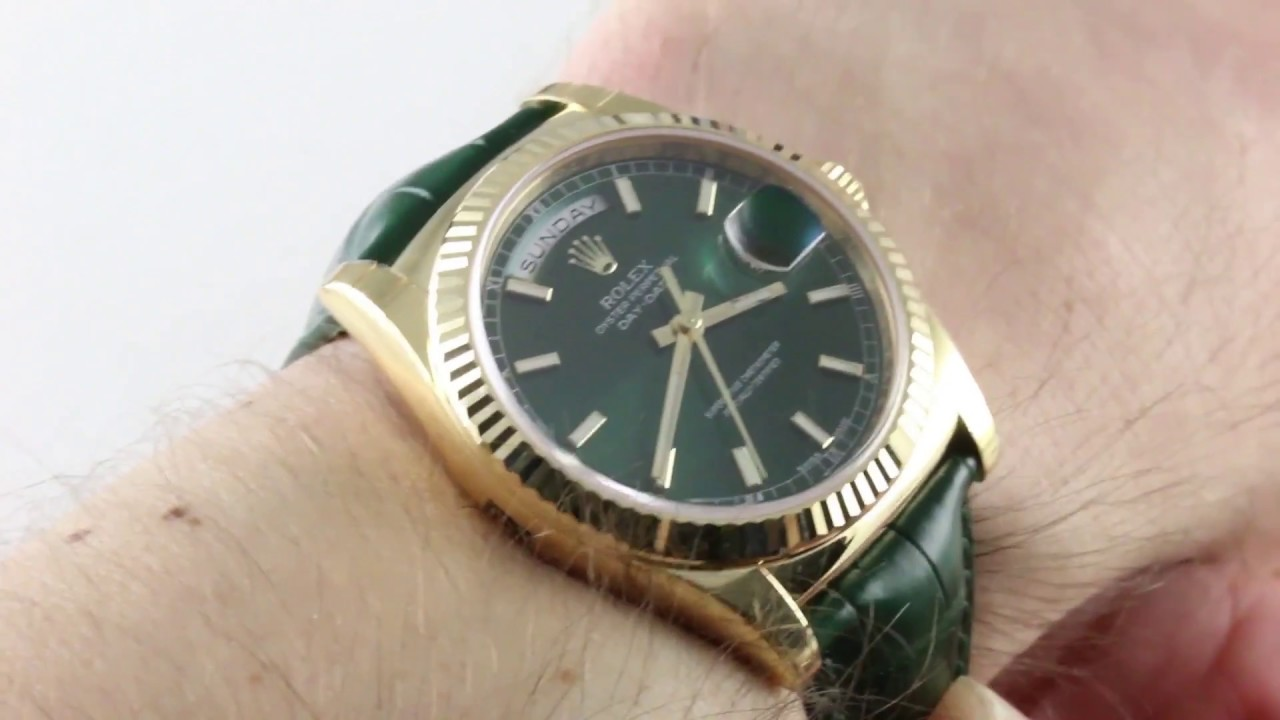 26ca861ecd4 Rolex Day-Date 118138 Luxury Watch Review - YouTube