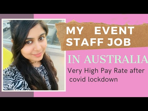 Part Time Jobs for University Student in Australia| My Event Staff JOB