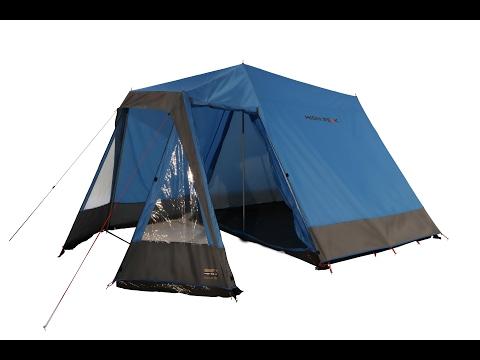 Большая палатка кемпинговая High Peak Colorado 180  хай пик на 5 человек , установка с тамбуром