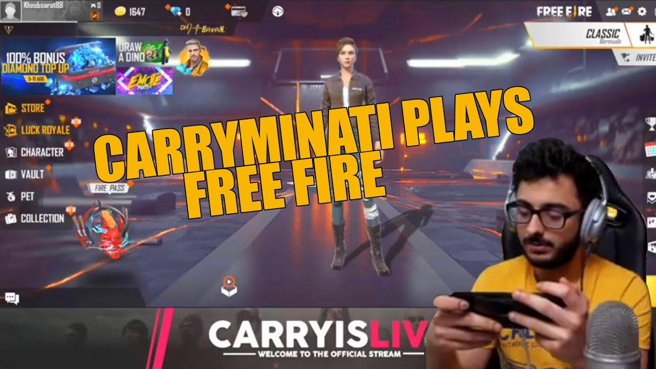 CarryMinati Plays Free Fire First Time   CarryMinati Highlights