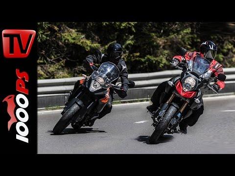 Vergleich: Suzuki V Strom 1000 vs  KTM 1050 Adventure Test  | Action Fazit