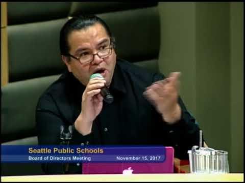 Seattle School Board Meeting November 15, 2017 Part 2