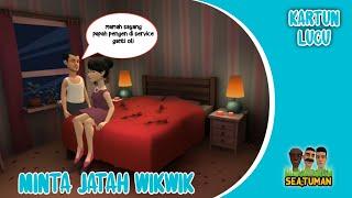 Kartun Lucu - Suami minta jatah wikwik