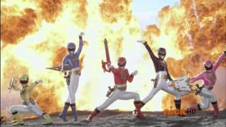 Power Rangers Megaforce & Samurai Morph And Fight (Fan Made)