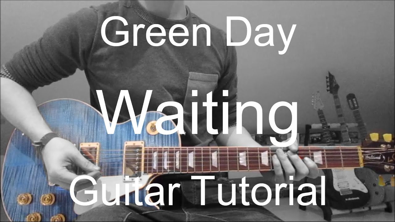 green day waiting guitar tutorial lesson 152 youtube