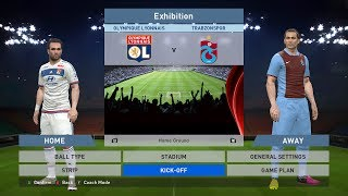 Olympique Lyon vs Trabzonspor, Parc Olympique Lyonnais, PC GAMEPLAY, PES 2016, Konami