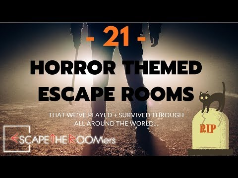 THIS HALLOWEEN:  Dare To Try These 21 HORROR THEMED ESCAPE ROOMS??