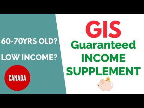 GOVERNMENT HELP FOR LOW INCOME CANADIANS - Guaranteed Income Supplement
