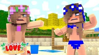 SISTERS FIGHTING OVER THE NEW BOY!   Minecraft Love Island   Little Kelly