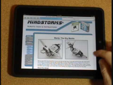 Using an iPad for LEGO Instructions