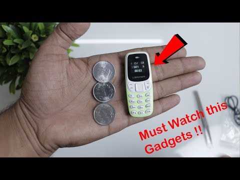 L8Star BM90 Mini Mobile ( World Smallest Phone ) Gadgets For Students | Calling, Music, Sim, SD card