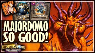 MAJORDOMO IS MY NEW FAV CARD! - Hearthstone Battlegrounds