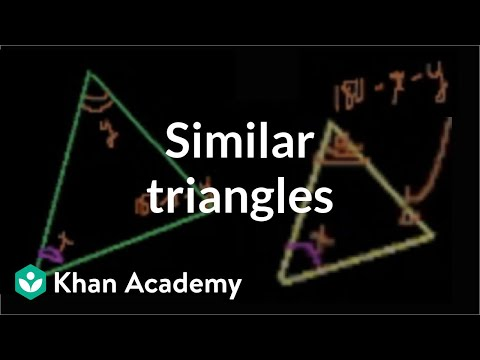 Similar triangles | Similarity | Geometry | Khan Academy