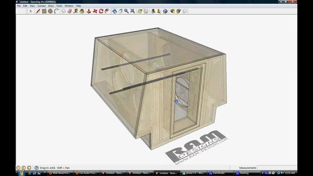 ram designs monster 618 dc audio bandpass wall box design youtube