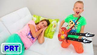 Vlad e Nikita tocam música e acordam a mãe