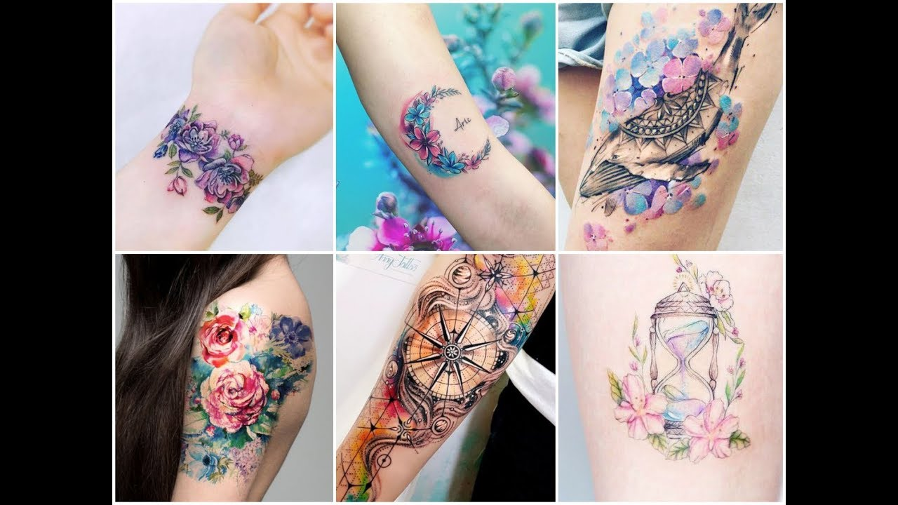 Top 50 Dreamy Colorful Tattoo Design Ideas For Womens Youtube