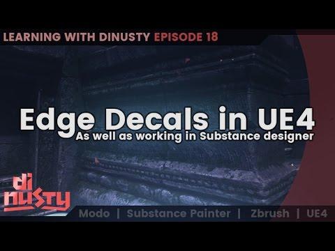 Edge Decals in UE4 & Substance Designer [EP18]