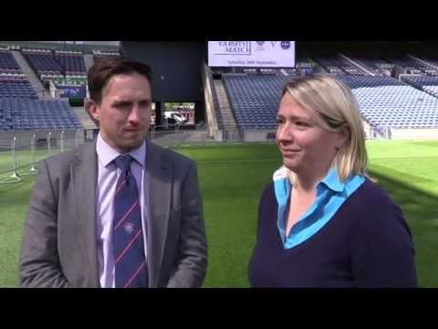 Rugby teams prepare for Murrayfield test
