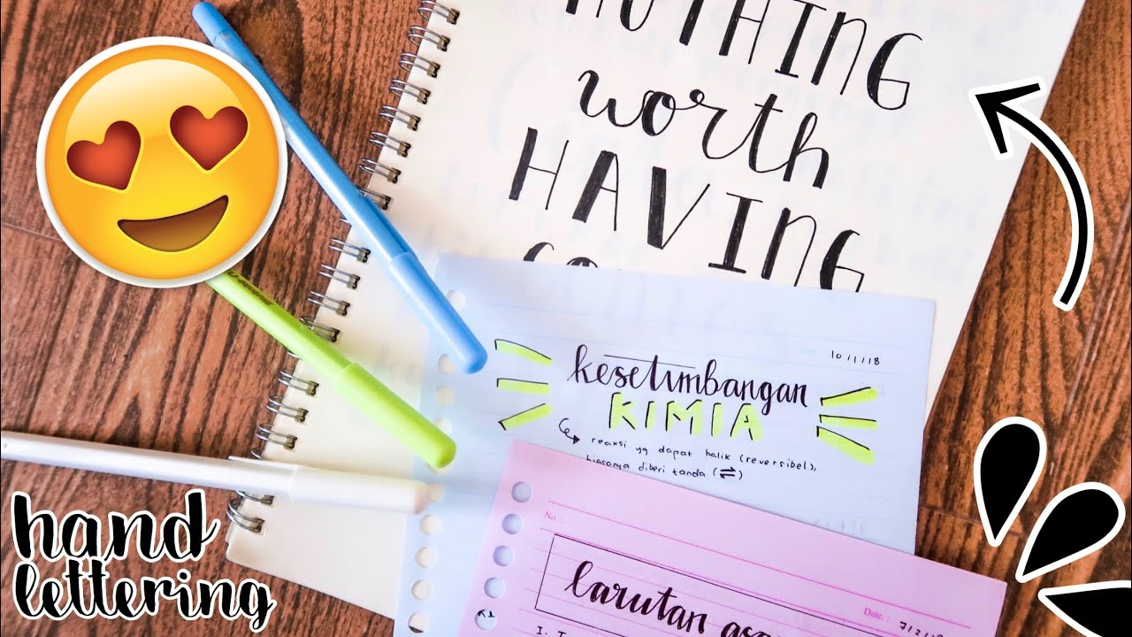 Faux Lettering How To Hand Lettering With Non Brush Pens Indonesia Youtube