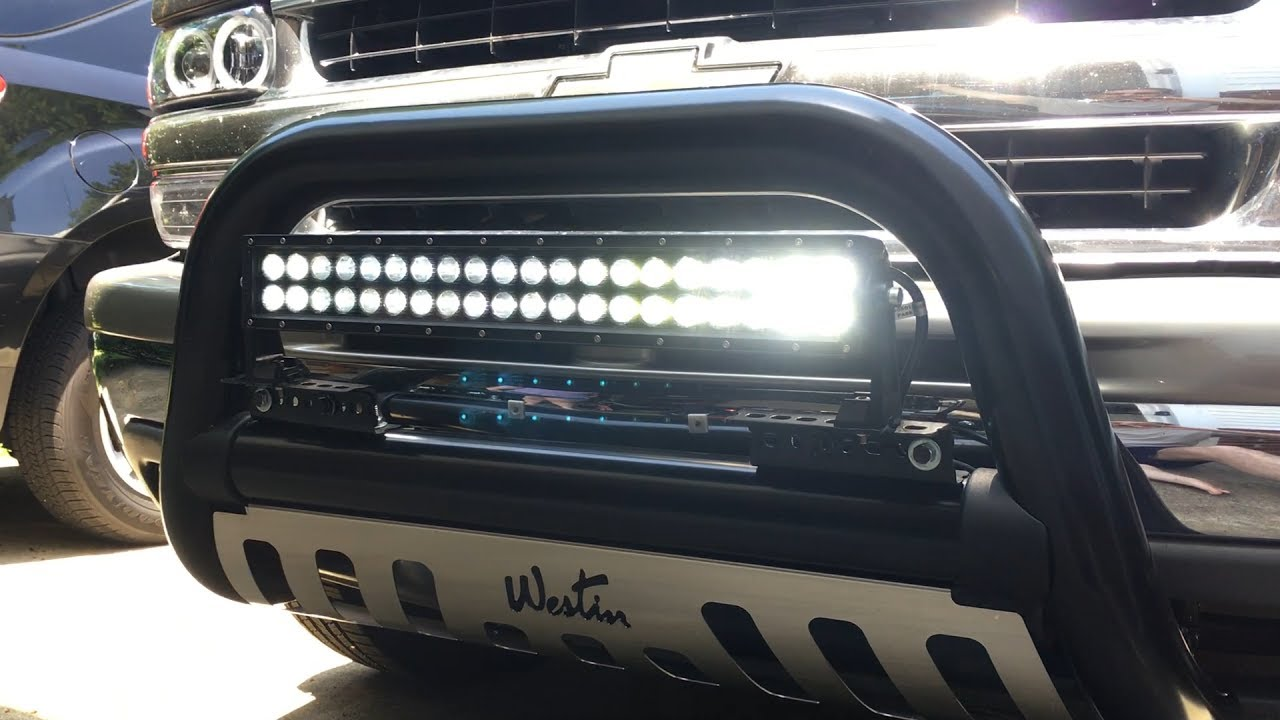 Led Light Bar Install Chevy Tahoe Youtube