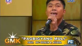 Pagbigyang Muli (Erik Santos) - Singing Soldier Cover on Good Morning Kuya