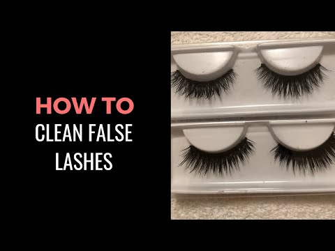 How to Clean False Lashes | How I Clean my Mink Lashes