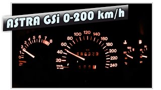 Opel Astra 2.0 16v GSI 0-100 km/h, 0-200 km/h acceleration after remap