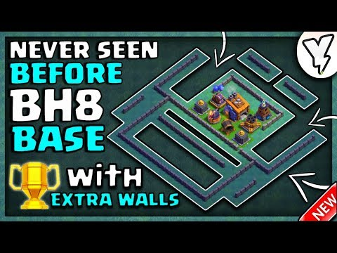 BUILDER HALL 8 ANTI EVERYTHING BASE TESTED WITH 4 REPLYS!! | BH8 BASE LAYOUT WITH EXTRA WALLS | 2018