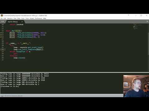 Asyncio - Asynchronous programming with coroutines