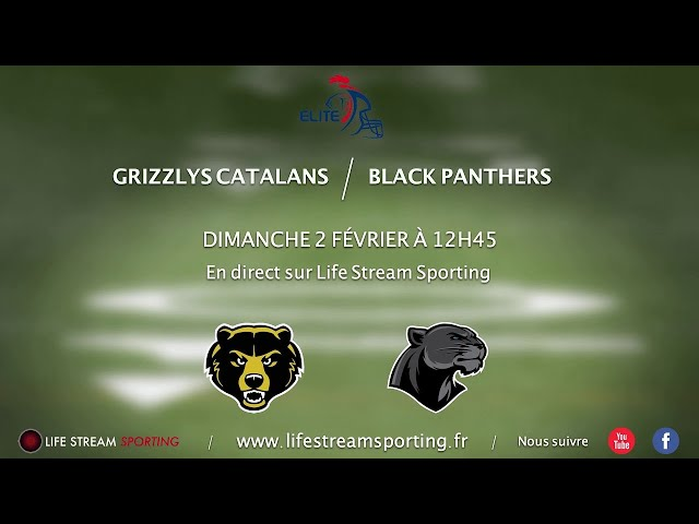 FOOT US | Grizzlys Catalans / Black Panthers | Annonce