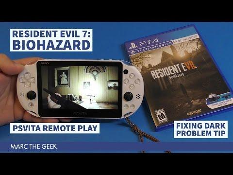 PSVita Remote Play: RE7 & Solving Dark Problem Tip