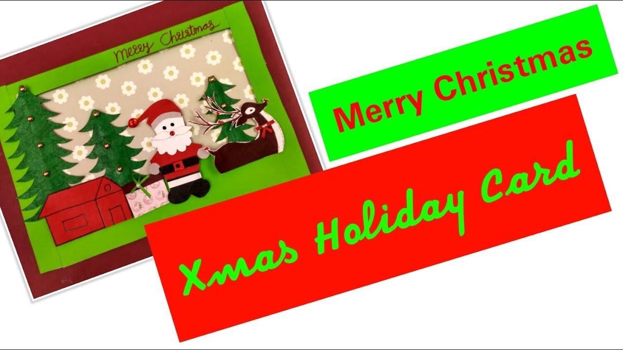 Diy easy christmas cards handmade christmas treeholiday greeting diy easy christmas cards handmade christmas treeholiday greeting card for kidssanta claus making m4hsunfo