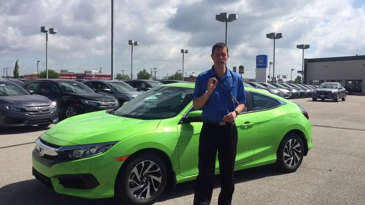 2016 Honda Civic Coupe Lx P Energy Green Presented By Jeremy Rees Of Victory In Muncie Indiana You