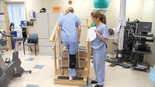 Crutch Walking on Stairs: Partial or Touch-Down Weight Bearing