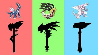 Pokemon as Weapons Requests #10: Creation trio - Dialga, Palkia, Giratina.
