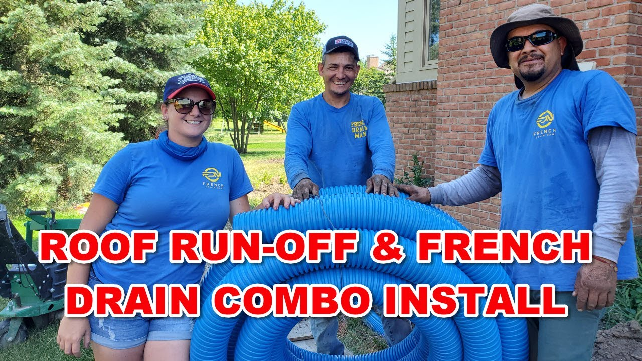 Roof Run-Off & French Drain Combo Install [ Oakland Township, Michigan ]