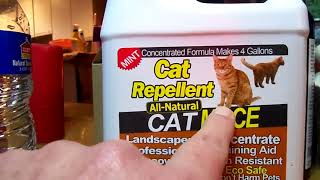 Excellent cat repellent tнat works and is safe for use around animals 100% ALL NATURAL ANIMAL REPELL