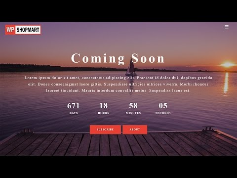 Responsive Coming Soon Plugin Installation On WordPress