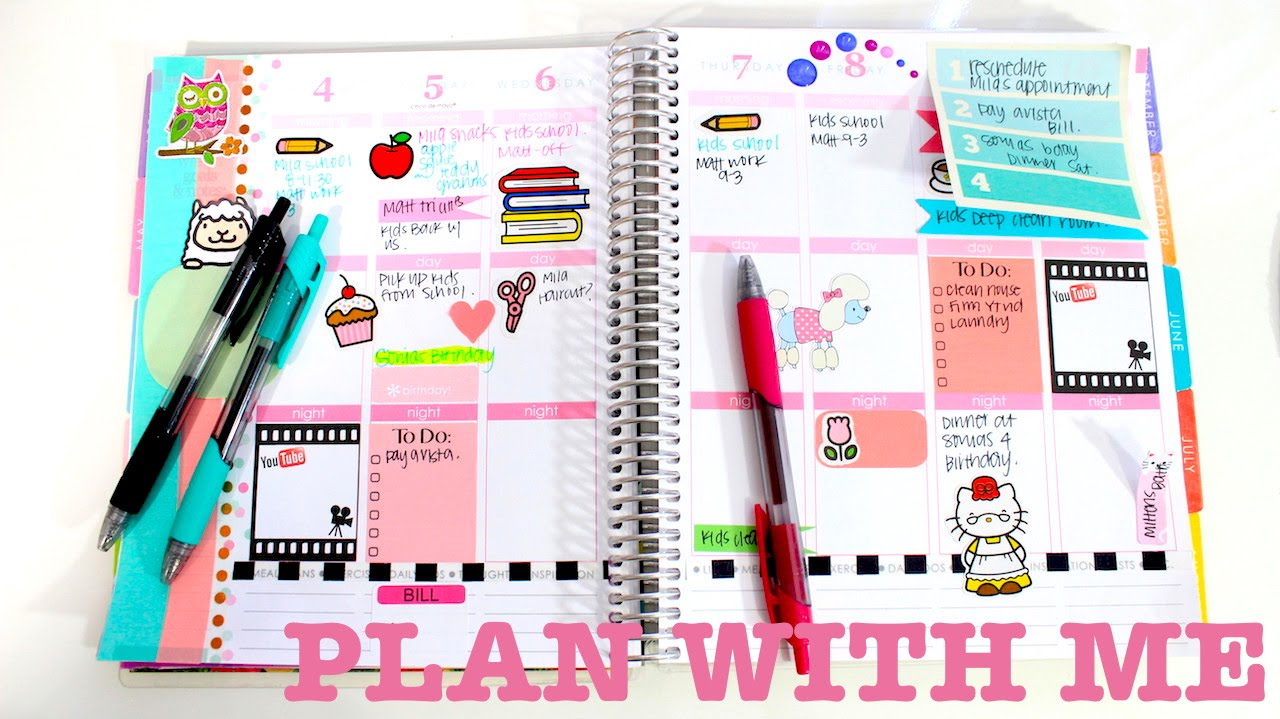 plan with me 1 decorating my erin condren planner