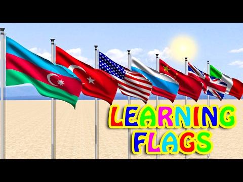 Learn Flags for Childrens 3D animation (Part 1) SweetStarTv
