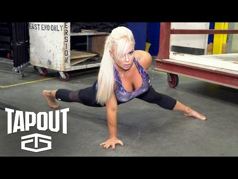 "Dana Brooke trains before entering the squared circle: ""Pre-Match Moments,"" powered by Tapout"
