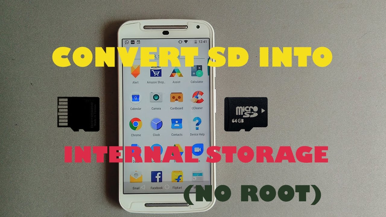 Convert Your SD card into Internal Storage (No Root) (Official)