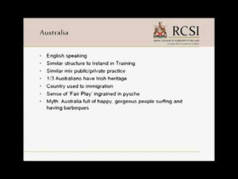 Australian Opportunities for Medical Graduates: Dr. David Bouchier-Hayes