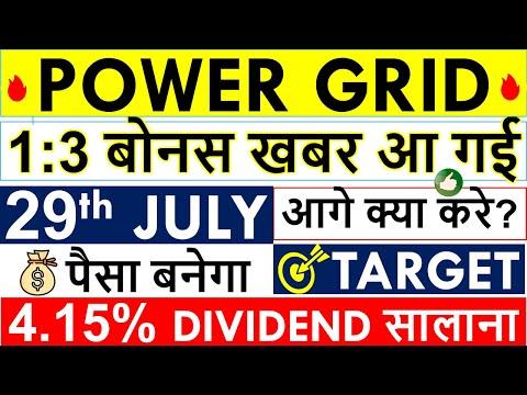 1:3 POWERGRID BONUS SHARE NEWS • POWER GRID BONUS Ex Date? POWERGRID SHARE LATSET NEWS • NEXT TARGET