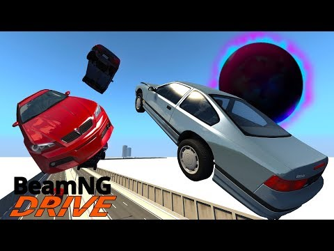 Insane Black Hole Causes Huge Highway Crash! - BeamNG Gameplay & Crashes